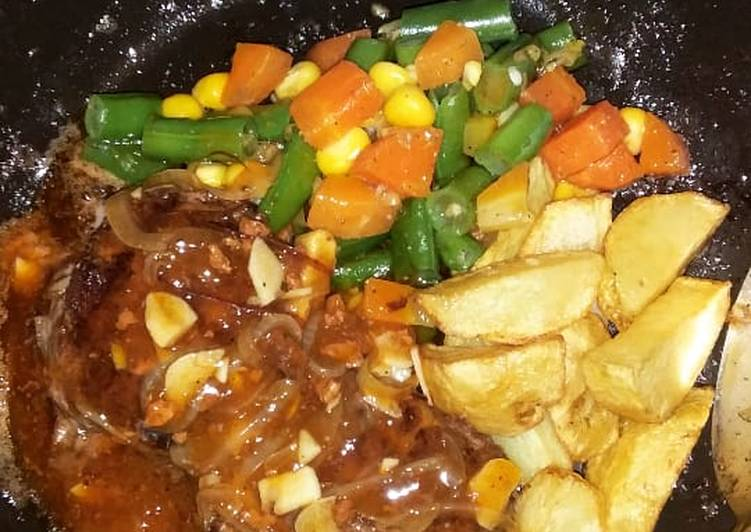 Steak Daging Sapi Giling Homemade Versi Anak Kos