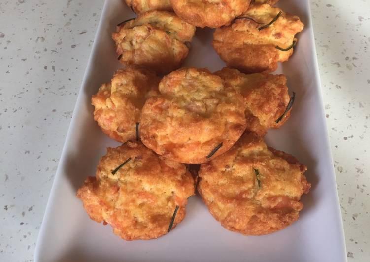 recette Muffins léger saumon parmesan délicieux