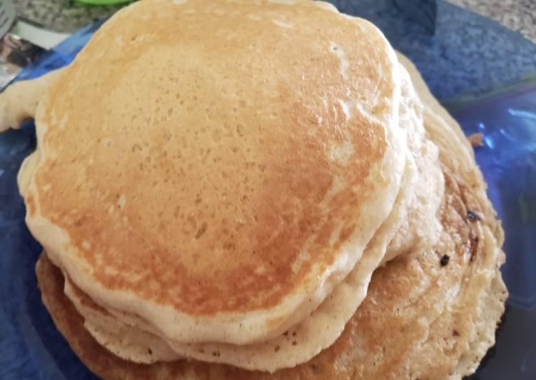 Recipe of Perfect Vanilla cinnamon buttermilk pancakes