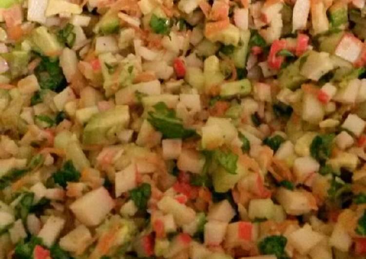 ensalada de surimi fitness