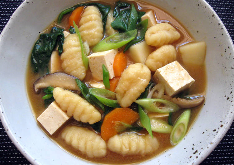 Easiest Way to Prepare Homemade Gnocchi Miso Soup