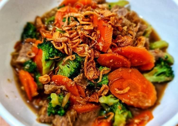 Bistik Sapi Wortel Brokoli