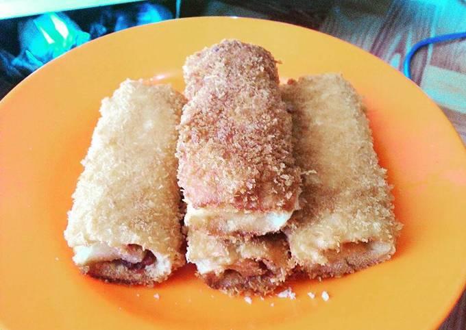 Roti gulung keju kornet simple