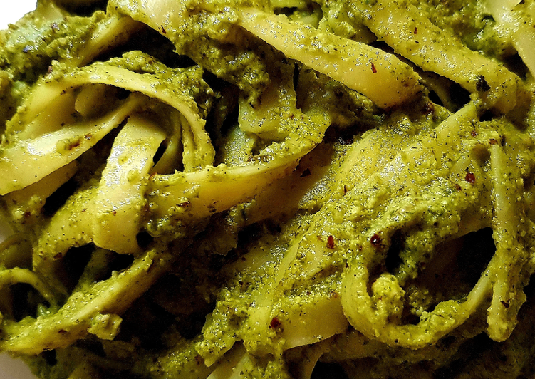 Recipe of Favorite Hazelnut Parsley Pesto Spaghetti