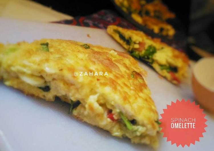 Spinach Omelette (Telur Dadar Bayam)