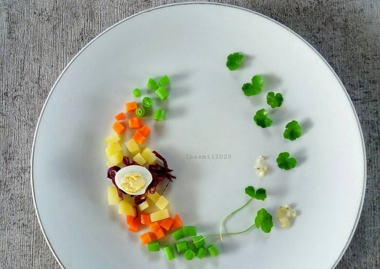 Chopped Vegetable Salad with Lemon Garlic Dressing