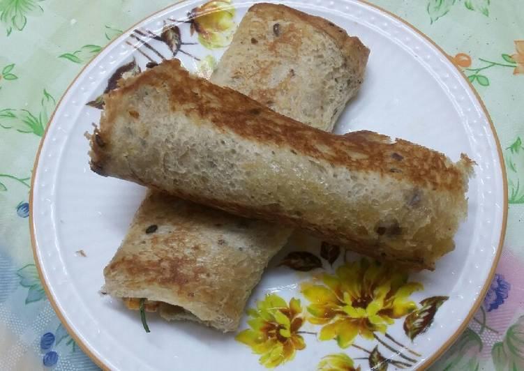 15 Minute Recipe of Super Quick Homemade Paneer bread roll