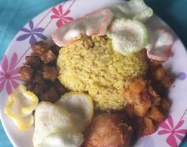Nasi Kuning Rice Cooker (bumbu instant nasi kuning)