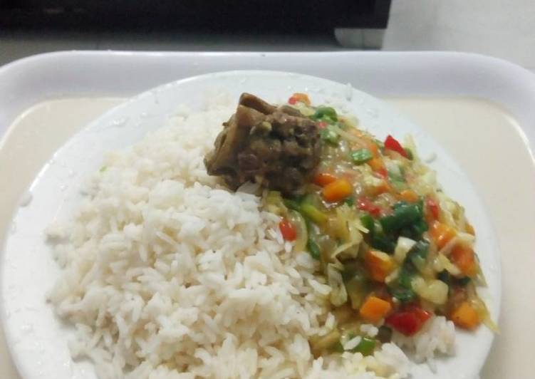 White Rice With Curry Sauce Recipe By Lilian Cookpad