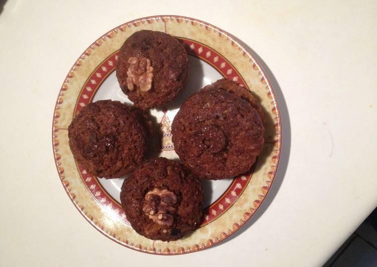 Les Meilleures Recettes de Muffins à citrouille, chocolat et noix