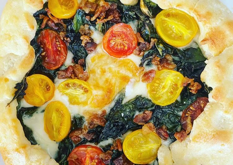 Pastel abierto de pizza keto
