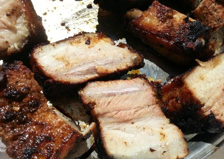 Travers de porc caramélisés