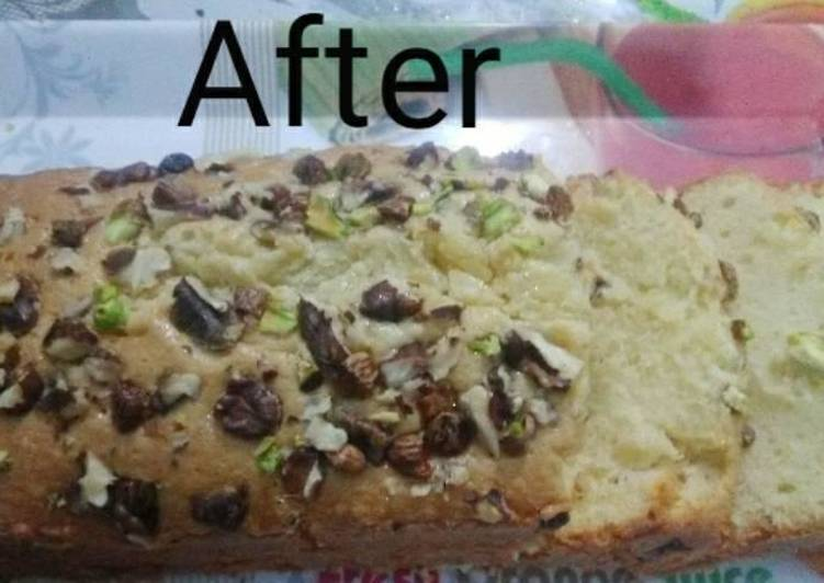Delicious Dry Fruit Tea Cake Recipe(Without Oven)
