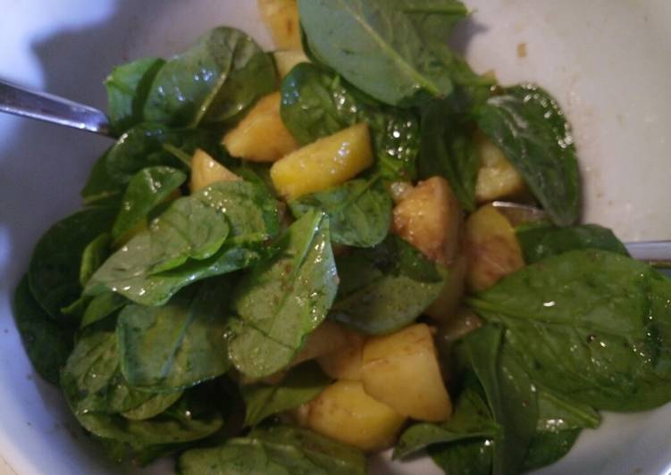 Recipe: Appetizing Potato and spinach salad
