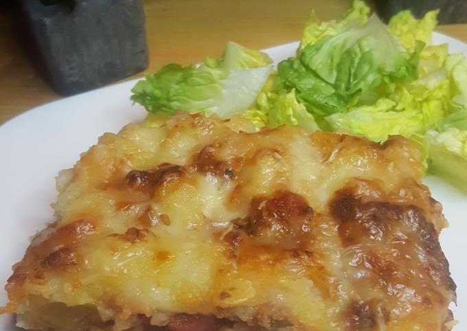 Écrasé de pommes de terre aux légumes et viande hachée