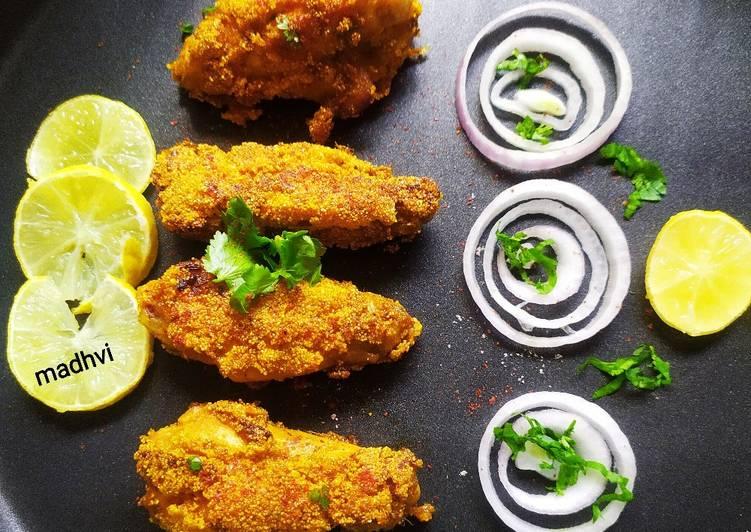 Recipe of Ultimate रवा फ्राइड चिकन विंग्स (Goan Rava Fried Chicken Wings)