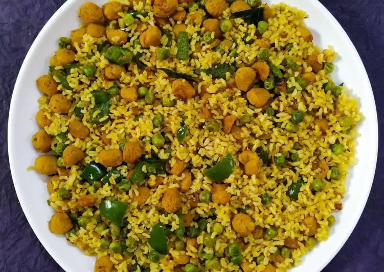 Soya Chunk Rice