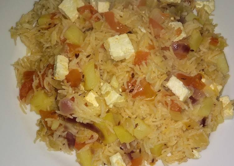 Aalu paneer rice