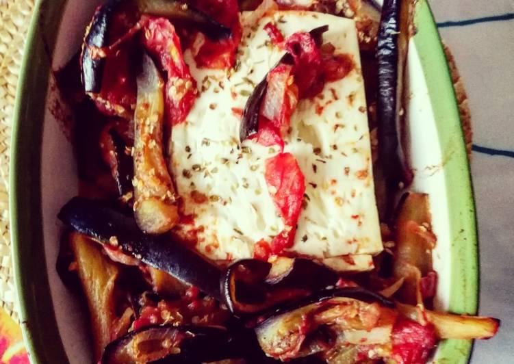 Ricetta Feta greca al forno con melanzane