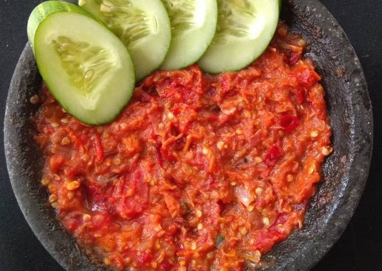 Resep Sambel Tomat Yang Populer Bikin Ngiler