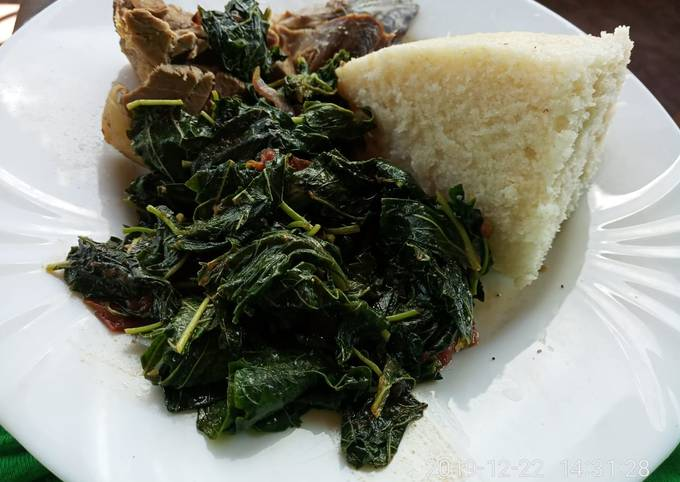 Terere and spinach