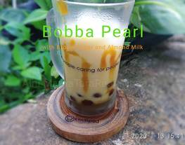 Bobba (Bubble) Pearl with Brown Sugar and Almond Milk