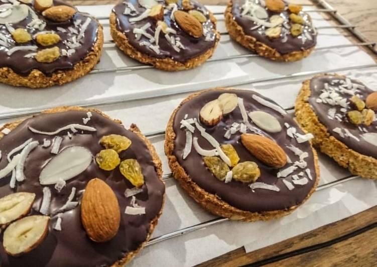 Biscuits aux graines et chocolat