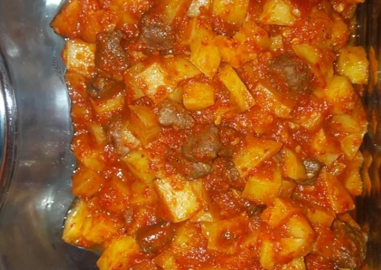 Bagaimana Mempersiapkan Resep Yummy Dari Sambel Goreng Kentang Hati Sapi ala dapur iis