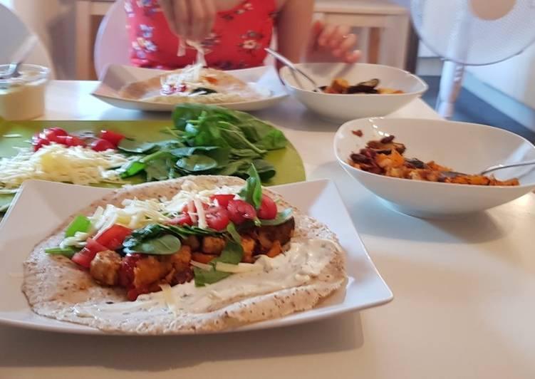 Foods That Make You Happy Mix veg (&falafel) wraps