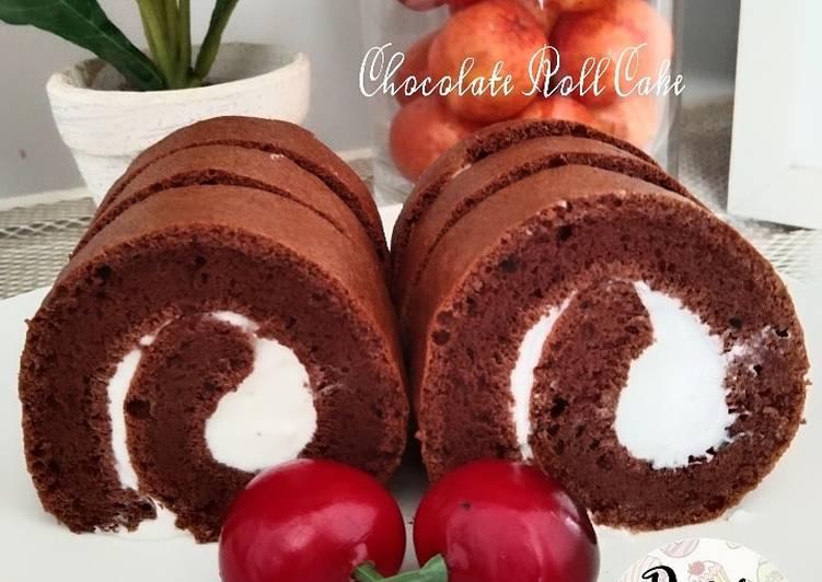 Bolu Gulung Coklat Simple