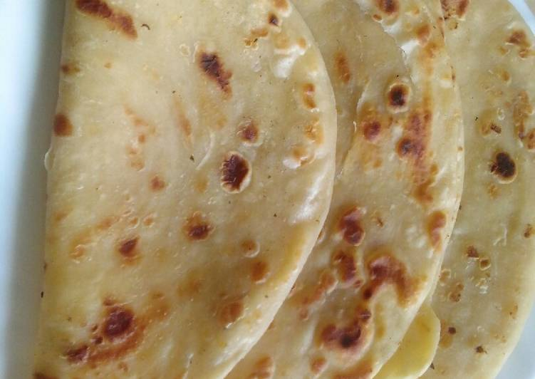 Coconut milk chapatis