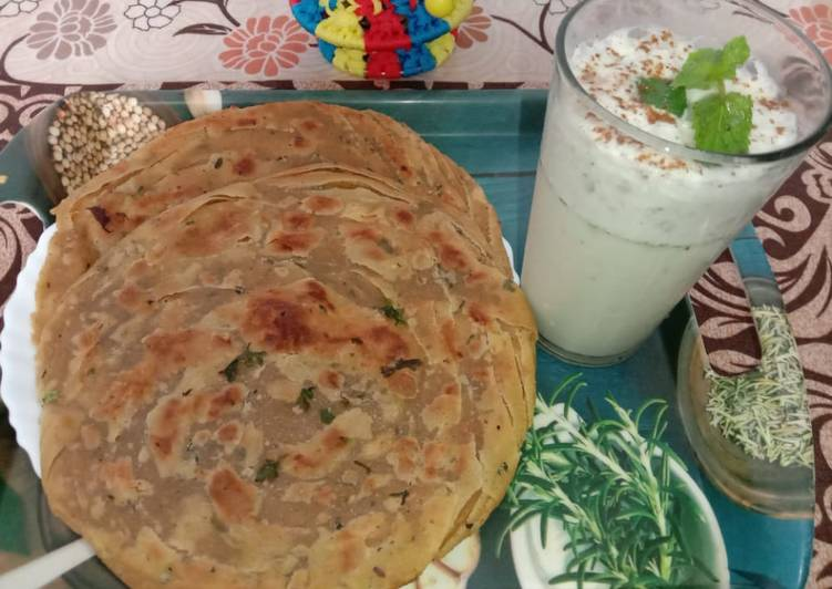 What are some Dinner Easy Fall Lachha paratha with mint buttermilk