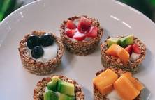 Oats fruit yogurt - yến mạch sữa chua