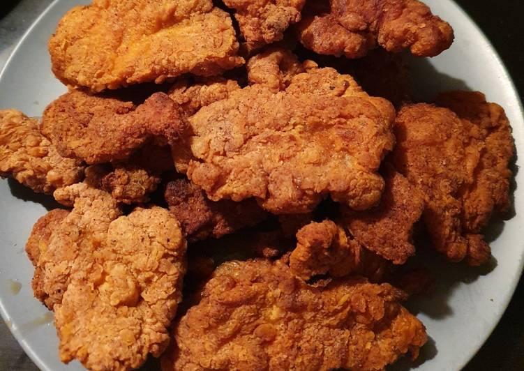 Resep Membuat Ayam goreng fillet bumbu KFC Bikin Nagih