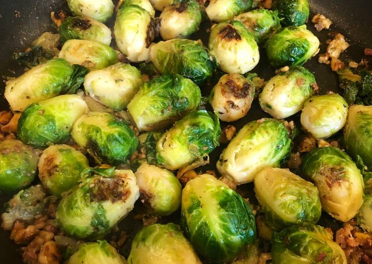 Simple Way to Prepare Award-winning Pan fried Brussels sprouts