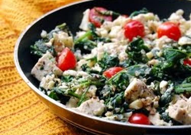 Spinach and Kale Tofu Scramble
