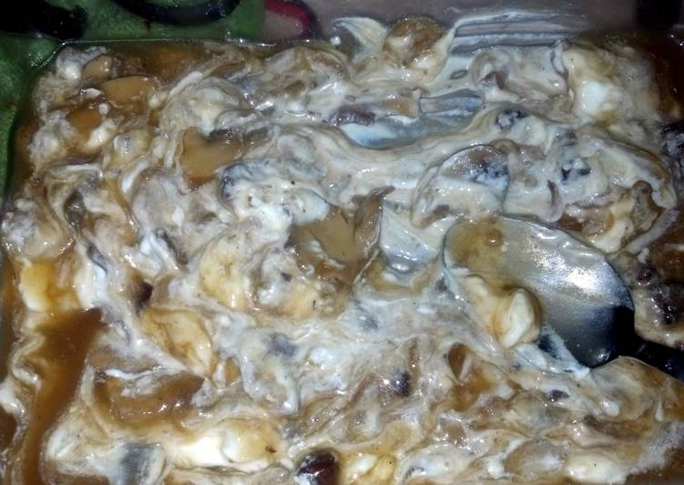 Chicken mushroom stuffing casserole