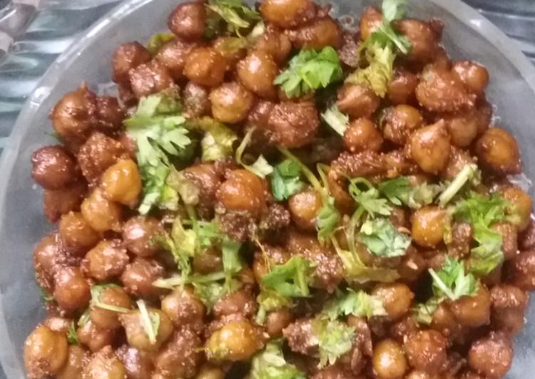 Recipe of Homemade Kala Chana masala