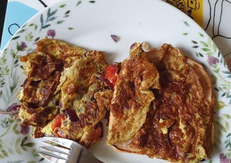 Masala bread omelette