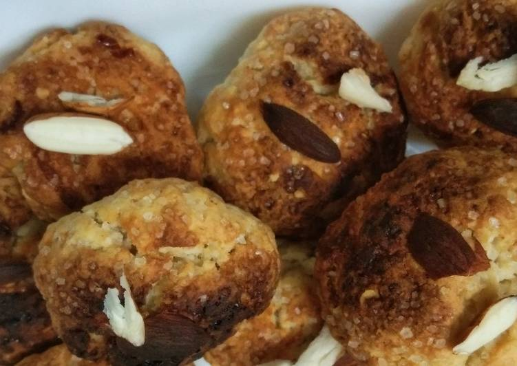Wheat. Flour. Almond cookies
