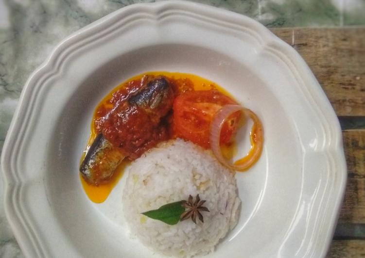Nasi lemak sambal sardin