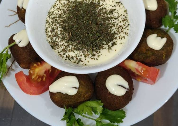 Simple Way to Prepare Ultimate Falafel with cheese sauce