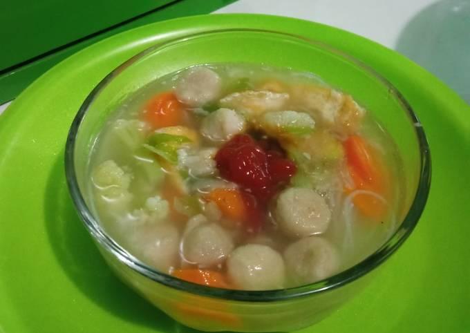 Recipe of Super Quick Homemade Kuah bakso sederhana