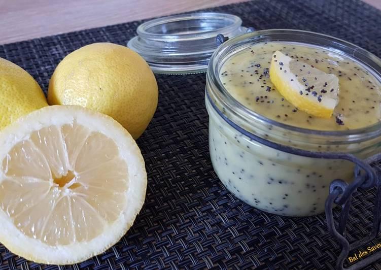 Lemon curd aux graines de pavot