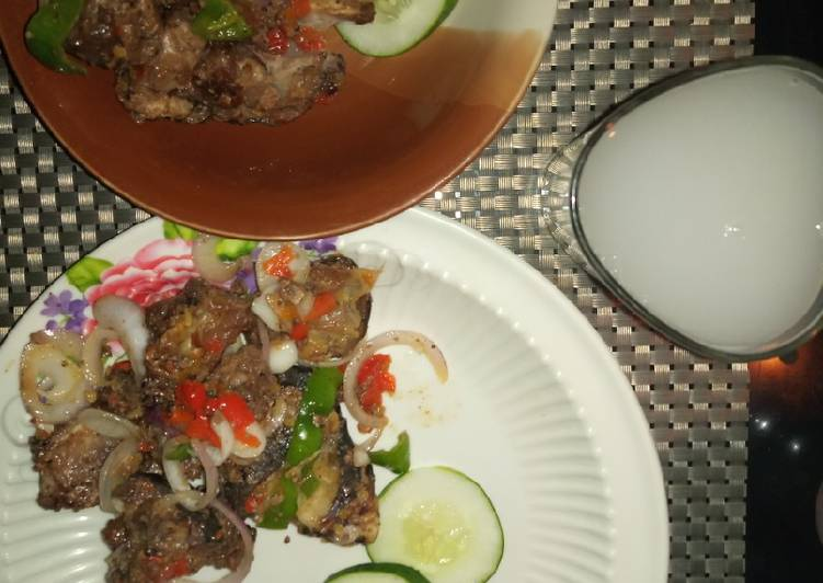 Grandmother's Dinner Ideas Special Goat meat Asún(Peppered meat) #Abuja