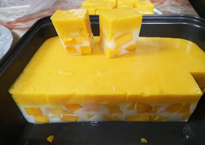 Bagaimana Menyiapkan Puding Mangga Aumm Yang Enak