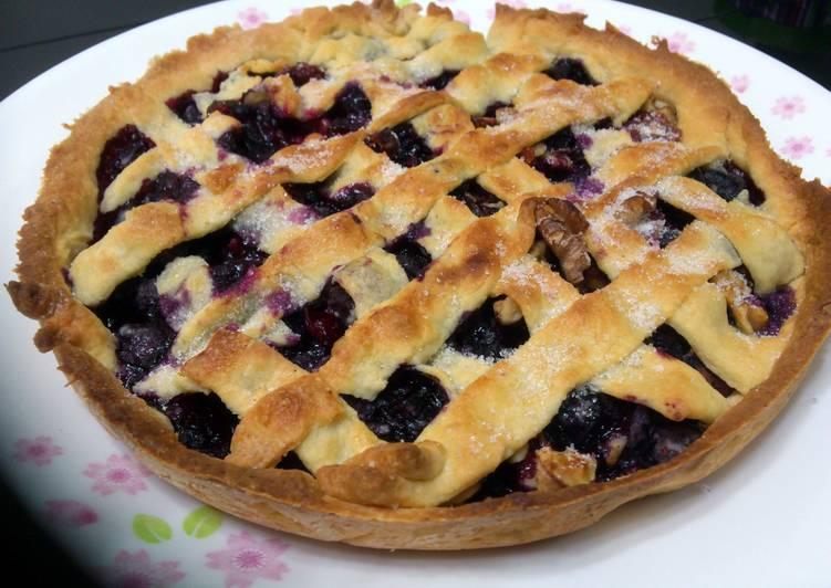Blueberry In Cream Chese Pie