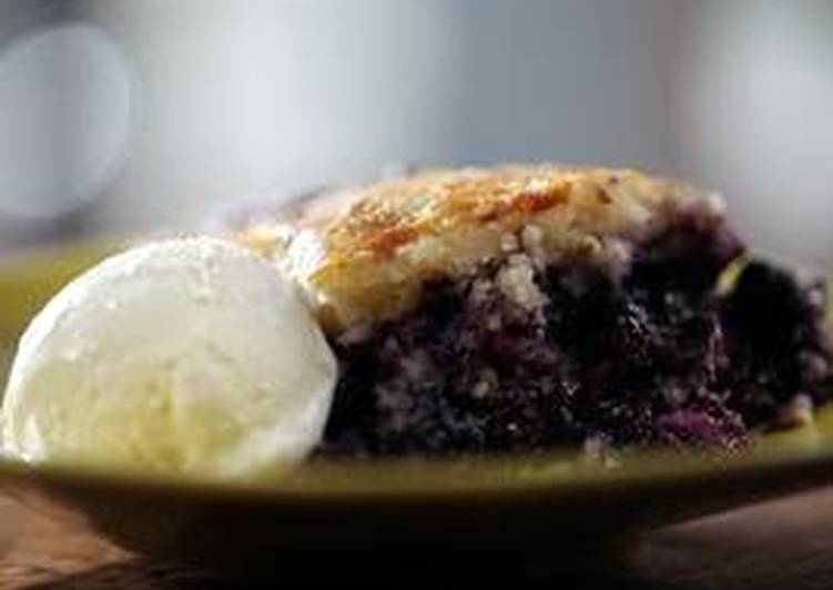 Iron Skill Blueberry Cobbler
