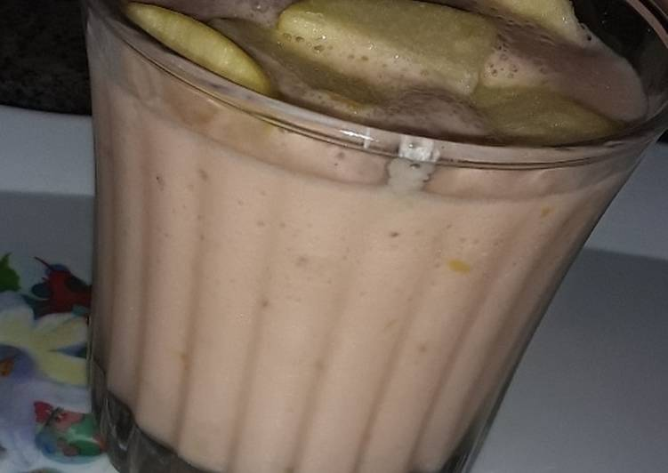 Easiest Way to Prepare Favorite Apple/Banana🍎🍌 smoothie