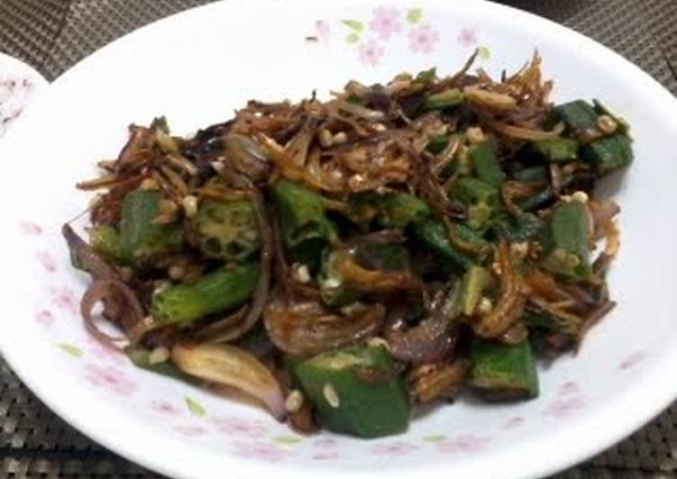 Okra With Dried Anchovies